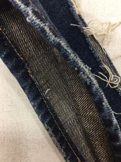 裾のダメージ アタリ を残してジーンズの丈上げをする方法